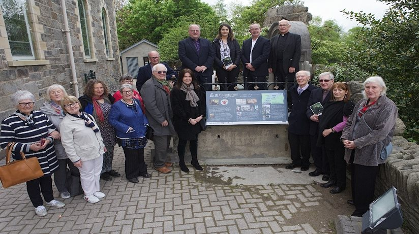 People present at the launch of the Hervey Trail, Derry