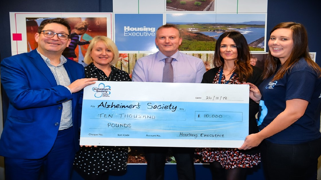 Staff raise £10,000 for Alzheimer's Society