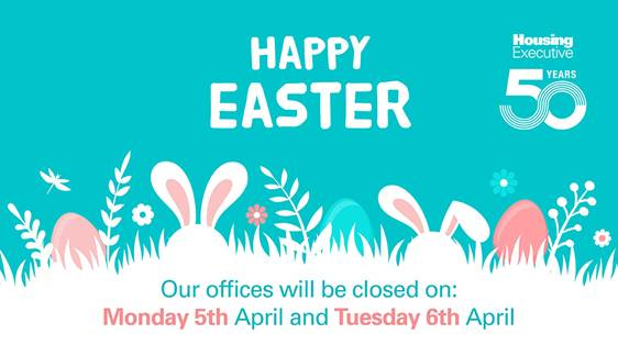 Graphic and text detailing office bank holiday closures.