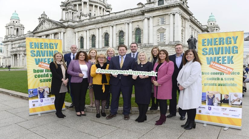 Energy Saving Week launch outside Belfast City Hall